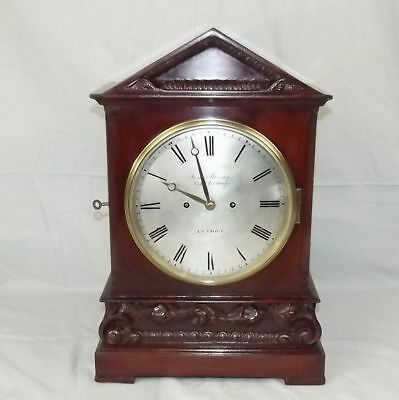 c1820 Regency Twin Fusee Mahogany Bracket Clock - James Murray, Royal Exchange