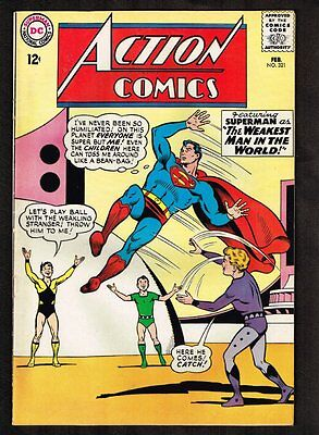 Action Comics #321 - Superman as the Weakest Man in the World - 1965 (VF+) WH