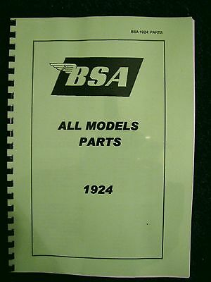 BSA Parts Book for all 1924 models