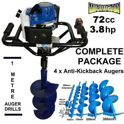 One Man Post Hole Digger Auger Petrol Fence Posthole Borer Fencing Ground Drill