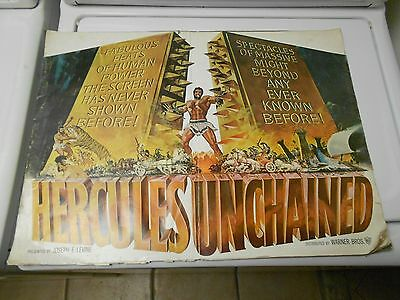 Hercules Unchained (1959) Large PRESSBOOK 23x17 16 pages G/VG Fold-Out Die-Cut