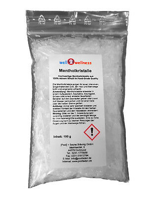 Menthol Crystals / Menthol crystals in 100g Bag - made of 100%% pure mint oil