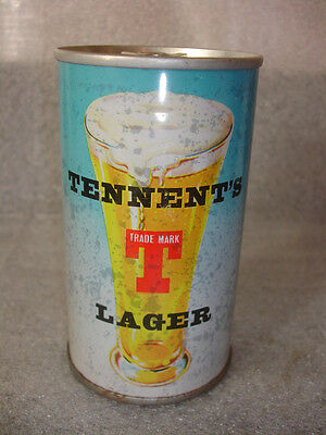 Old Vtg Steel Tennents Lager 12oz Pull tab Beer Tab  UK , Scotland Penny