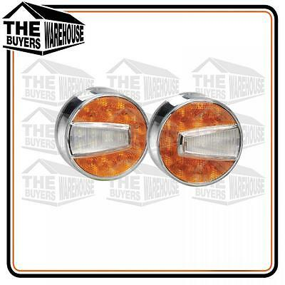 Pair Narva Led Front Indicator Park Clear Amber Light Lamp Bullbar 95006 + 95004
