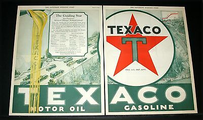 1925 Old Magazine Print Ad, Texaco Motor Oil, For Increased Gas Mileage, Art!