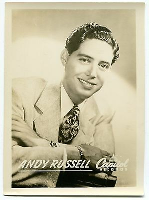 Vintage CAPITOL RECORDS Promo Photo: ANDY RUSSELL # 2