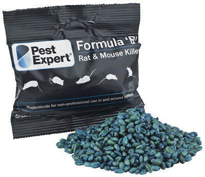 Mouse Killer Poison From Pest Expert Formula 'B' 900g (Free Gloves & Bait Trays)