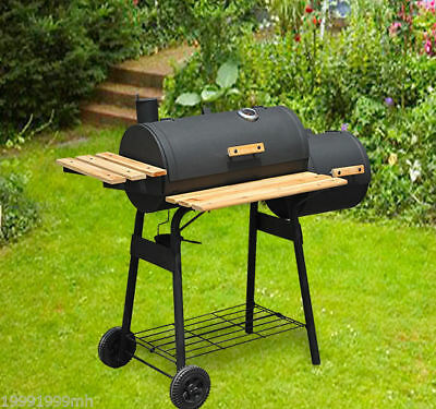 HOMCOM Barbeque Grill BBQ Outdoor Backyard Charcoal Grilling Camping Steel