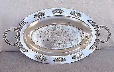 "WMF B.BUCH WARSAW ""EMPIRE STYLE"" SILVER PLATED FRUIT DISH SIGNED 19th CEN. MARK"