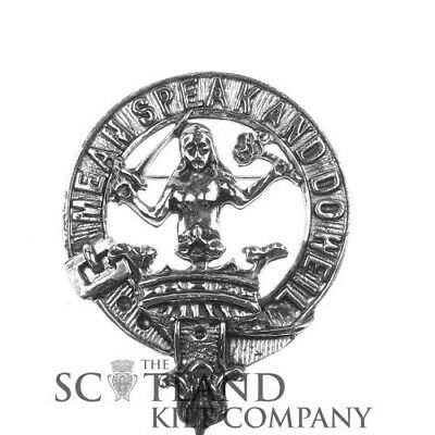 Scottish Made Urquhart Clan Crested Coat of Arms Boxed Cap Badge by Art Pewter