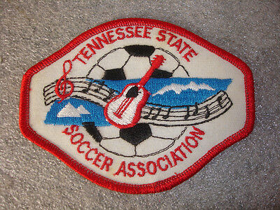 Tennessee State Soccer Association 4x3 Guitars,Notes on sewing patch