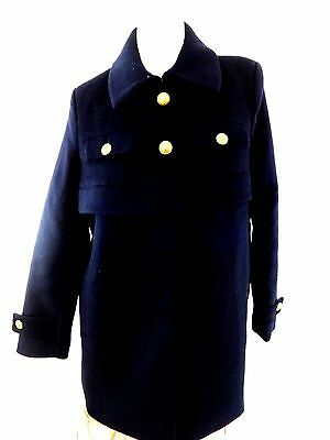 $249 Nwt Joe Fresh Womens Size L Navy Blue Wool Coat Fantastic!