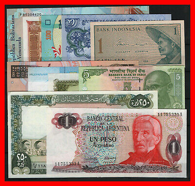 25 Billetes Del Mundo Diferentes Paises Sc Lote Tipo A / Worldwide Banknotes 25