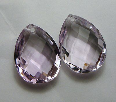 Pink Amethyst - PAAR Brioletts facettiert 18x13mm  (Box-2610)