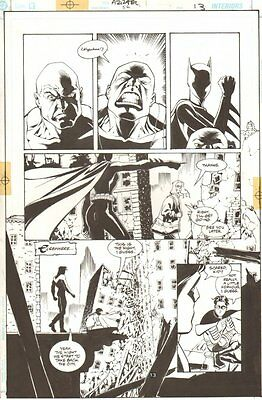 Azrael #56 p.13 - New Batgirl, Robin, and Nightwing - 1999 art by Roger Robinson