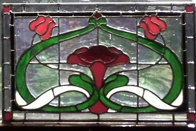 Red Twilight Stained Glass