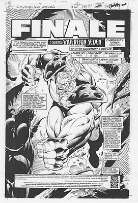 Sovereign Seven #36 p.1 - Title Splash - 1998 original art by Ron Lim