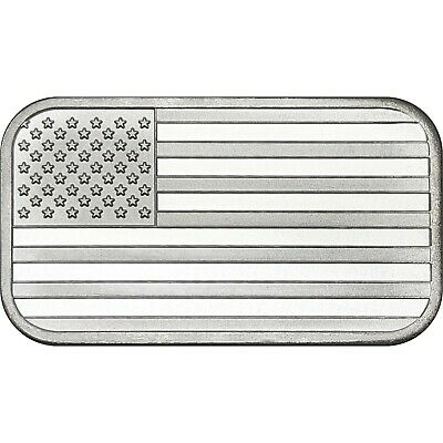 American Flag 1oz .999 Fine Silver Bar by SilverTowne