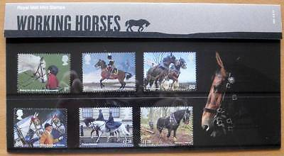 2014 Great Britain Working Horses Presentation Pack - 6 Stamps - Royal Mail