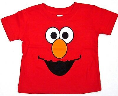 ELMO Baby Infant T-shirt Sesame Street Muppets Red Monster Tee 6M,12M,18M,24M