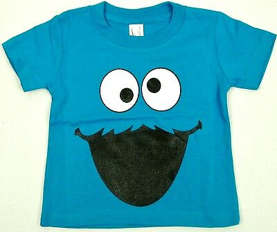 COOKIE MONSTER Baby Infant T-shirt Sesame Street Muppets Tee 6M,12M,18M,24M Blue