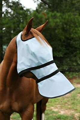 Full Face Shade 90% UV protection doubles as fly mask no more sunscreen!  GREAT!