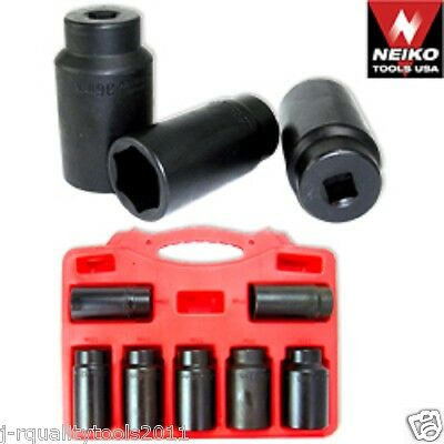 "7pc 1/2"" Drive Front Wheel Drive Axle Lock Nut Socket Set Automotive Tools"