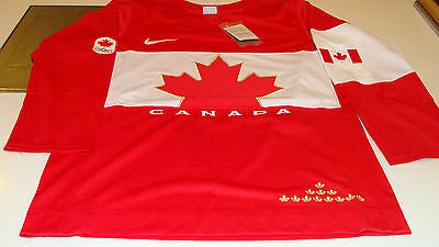 Team Canada 2014 Sochi Winter Olympics Hockey Jersey X Large Red Twill Ice