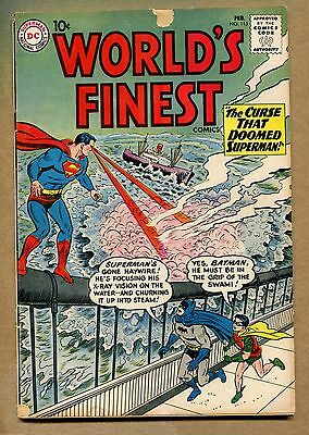 World's Finest #115 - The Curse that Doomed Superman! - 1961 (Grade 5.0) WH