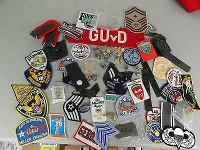Military Mixed Lot Set Insignia Crests Patches Space Rank Challenge Coin 8B