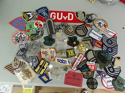 Military Mixed Lot Set Insignia Crests Patches Space Rank Challenge Coin 12B