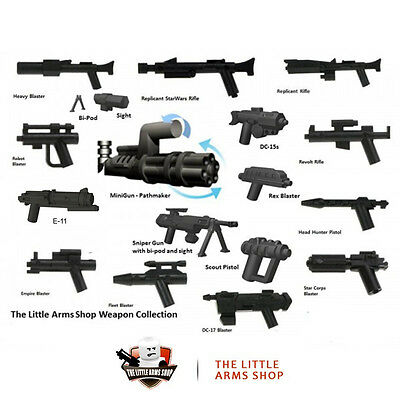 Lego® Star Wars™/Little Arms Blaster waffen set 17 waffen + Zub. fur minifigure