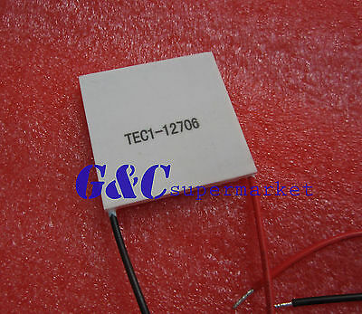 1PCS TEC1-12706 Heatsink Thermoelectric Cooler Cooling Peltier Plate  12V 60W M3