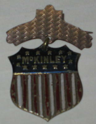 """Early William McKinley Campaign Pin 1.5"""" - Tin FREE Shipping"""