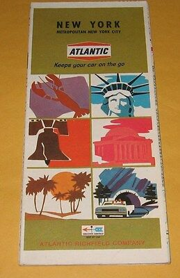 1968 Atlantic Oil Co. map of New York