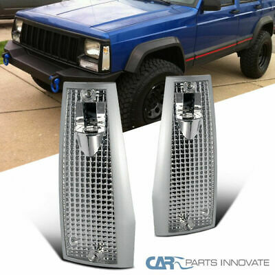 84-96 Jeep Cherokee Comanche Wagoneer XJ Clear Corner Lamps Turn Signal Lights