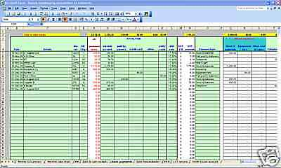 Hair/beauty salon accounting & VAT spreadsheet template - 2018 year end version