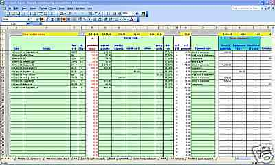 Pubs/bars & clubs bookkeeping & VAT spreadsheets - 2018 year end version