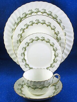 "Minton: ""Ermine"" 41 Piece Fine Bone China Service for 8, Made in England  ESTATE"