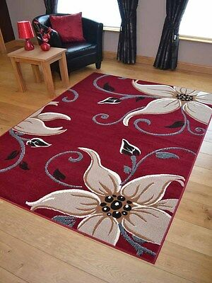 Red Beige Big Lily Small Extra Large Hall Runners Floor Carpets Mats Rugs Cheap