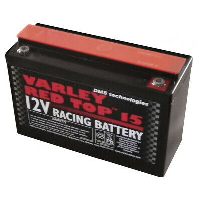 Varley Red Top 15 Battery - Racing/Oval/Rally/Motorsport/Dry Cell/Lightweight