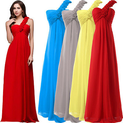 Chiffon Wedding Bridesmaid Prom Dress Formal Party Evening Cocktail Ball Gowns