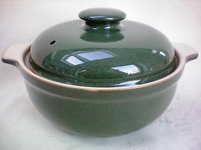 Denby Classic Green Cookware Covered Casserole Dish Excellent Condition