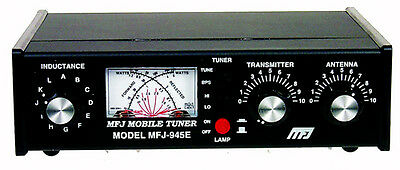 ANTENNA TUNER - MFJ-945E - 1.8 TO 52MHz (MANUAL TUNER) WITH WATTMETER