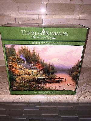CEACO 1000 PC JIGSAW PUZZLE THE END OF A PERFECT DAY THOMAS KINKADE ART SEALED