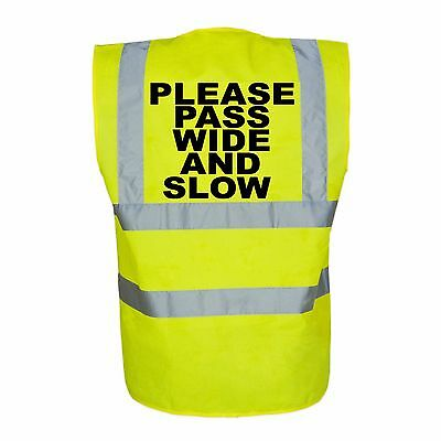 Adult Horse Riding Hi-Vis Safety Vest Equestrian. High Viz Waistcoat