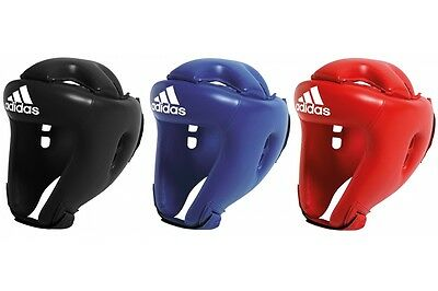 Adidas Rookie Kids Childrens Youth Boxing Head Guard Red Blue Black Martial Arts