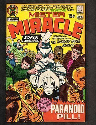 Mister Miracle #3 ~ The Paranoid Pill (Kirby) ~ (Grade 8.5) WH