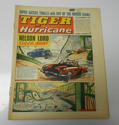 1966 TIGER AND HURRICANE UK Weekly Dec 17 T.I.G.E.R. Agent FN Johnny Cougar