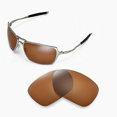 b9d3245f20b New Walleva Polarized Brown Replacement Lenses For Oakley Inmate Sunglasses